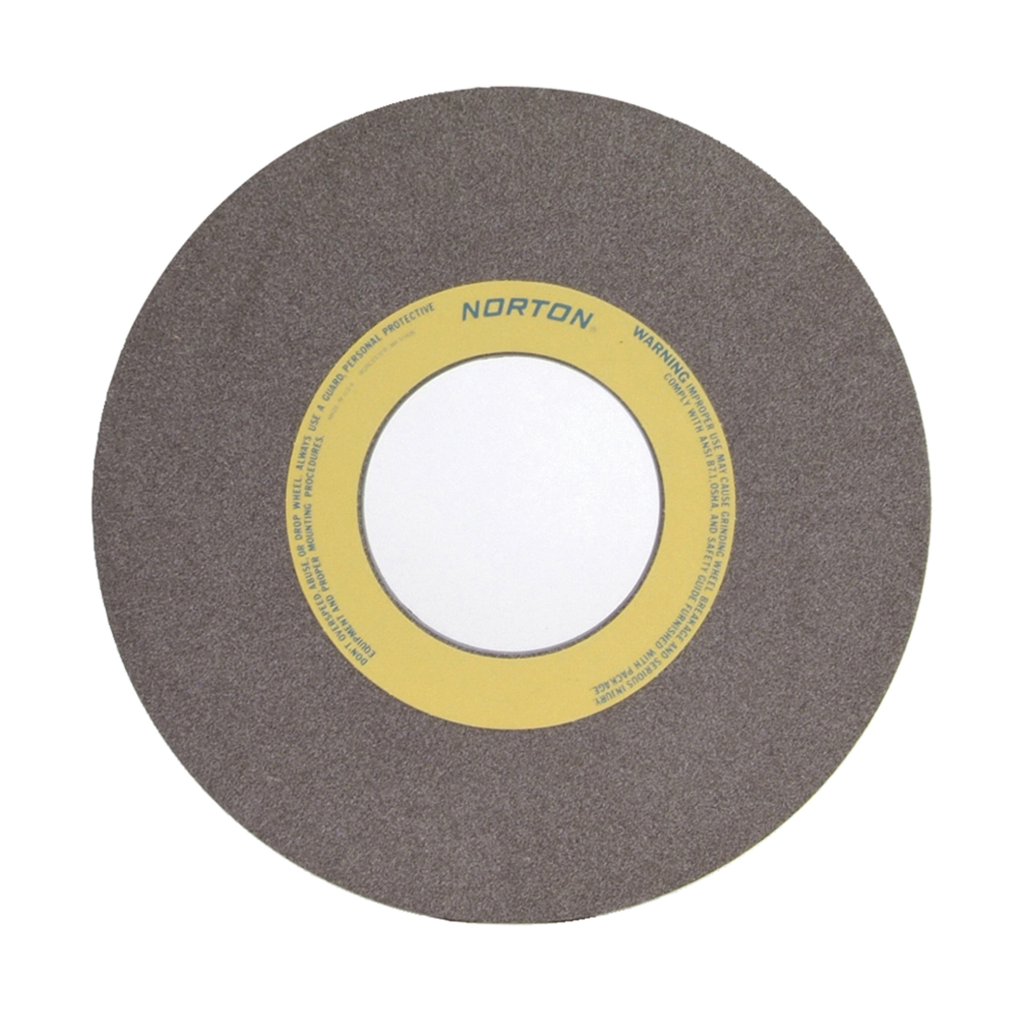 Norton® 66253364065 57A Straight Toolroom Wheel, 14 in Dia x 1 in THK, 5 in Center Hole, 60 Grit, Aluminum Oxide Abrasive