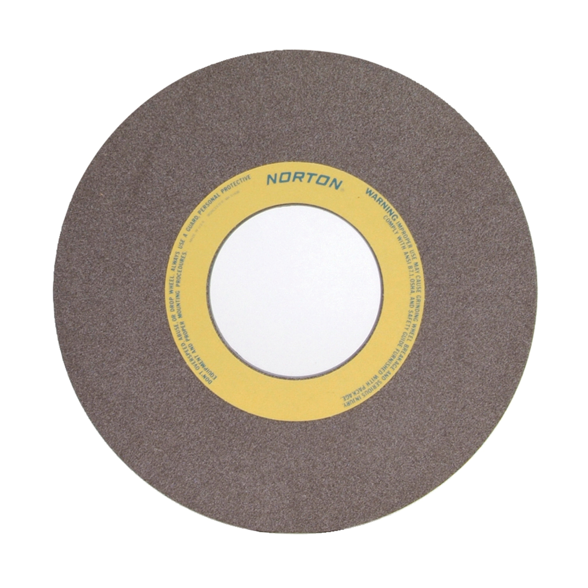 Norton® 66253364066 57A Straight Toolroom Wheel, 14 in Dia x 1 in THK, 5 in Center Hole, 60 Grit, Aluminum Oxide Abrasive