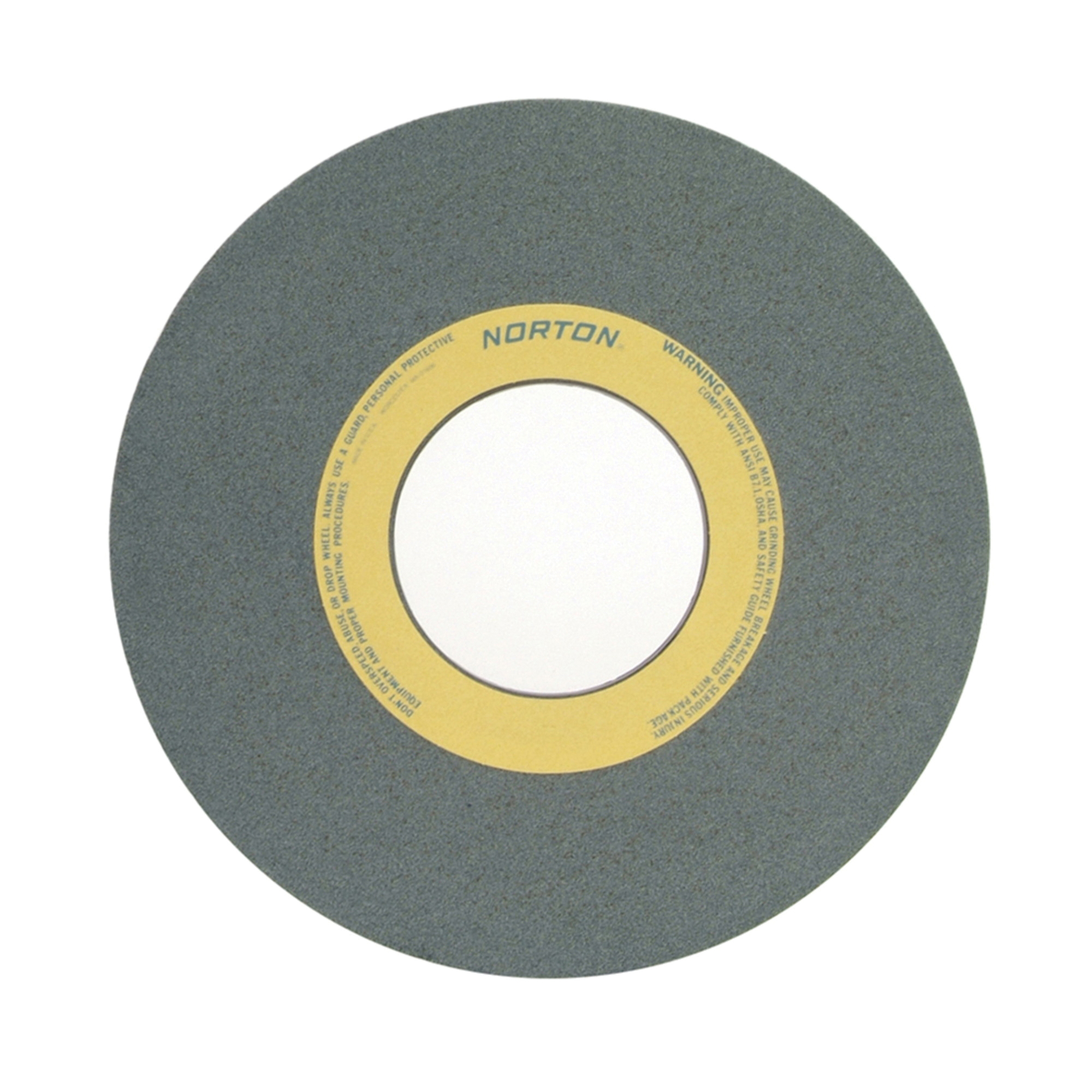 Norton® 66253364242 39C Straight Toolroom Wheel, 14 in Dia x 1-1/2 in THK, 5 in Center Hole, 60 Grit, Silicon Carbide Abrasive