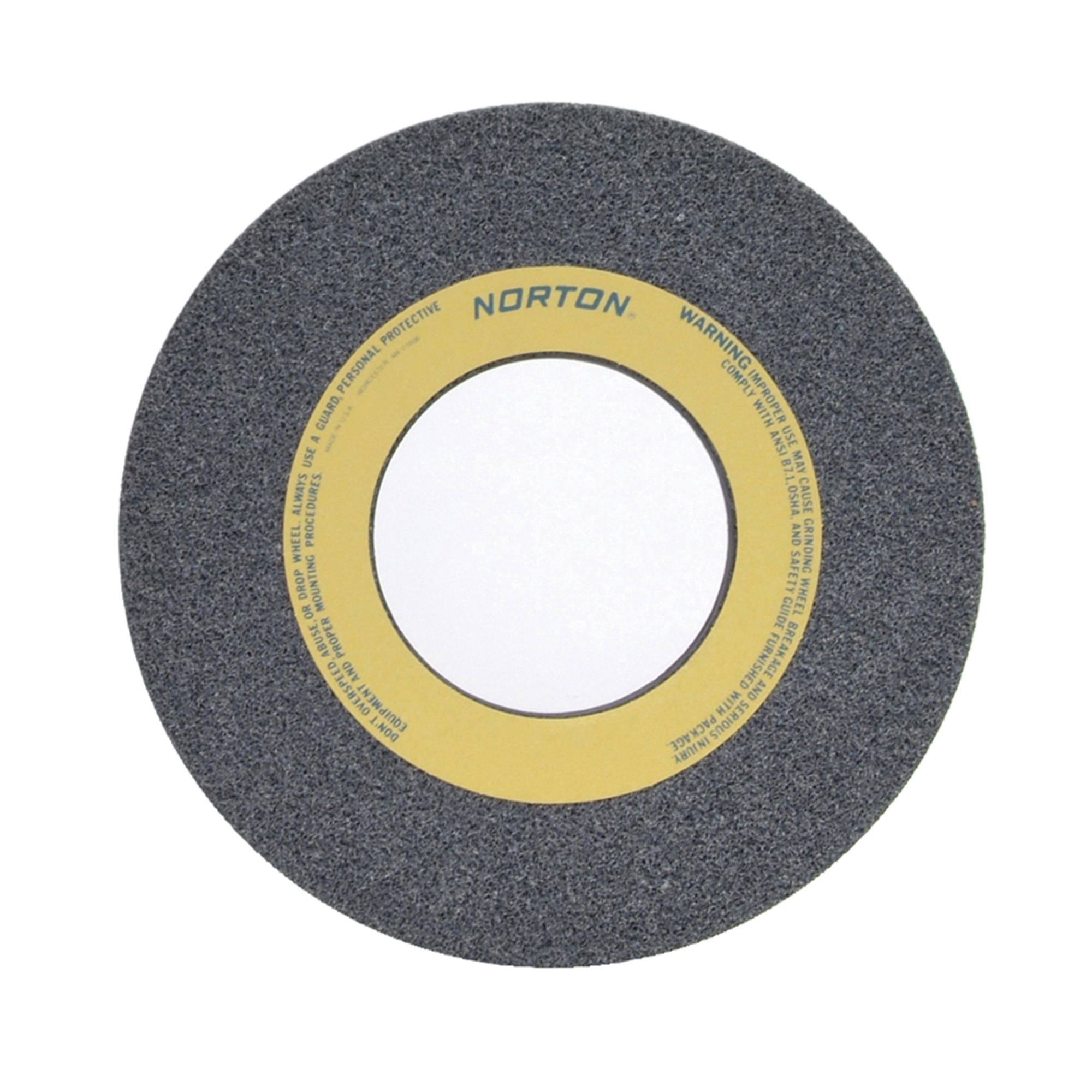 Norton® 66253364340 32A Straight Toolroom Wheel, 14 in Dia x 1-1/2 in THK, 5 in Center Hole, 60 Grit, Aluminum Oxide Abrasive