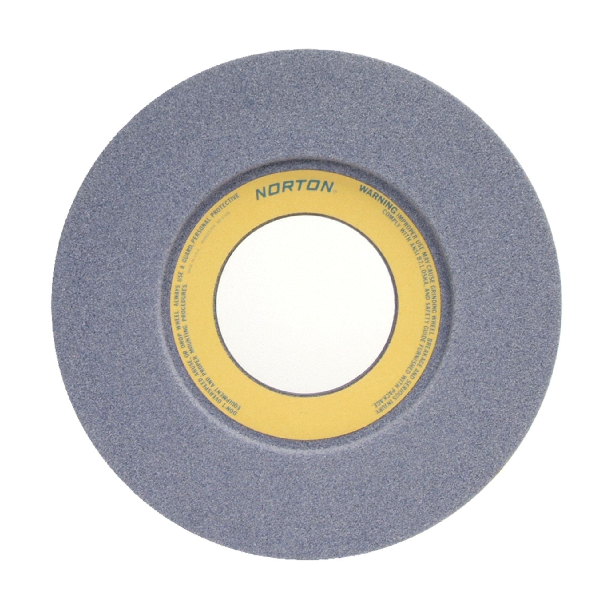 Norton® 66253364362 32A 1-Side Recessed Toolroom Wheel, 14 in Dia x 1-1/2 in THK, 5 in Center Hole, 46 Grit, Aluminum Oxide Abrasive