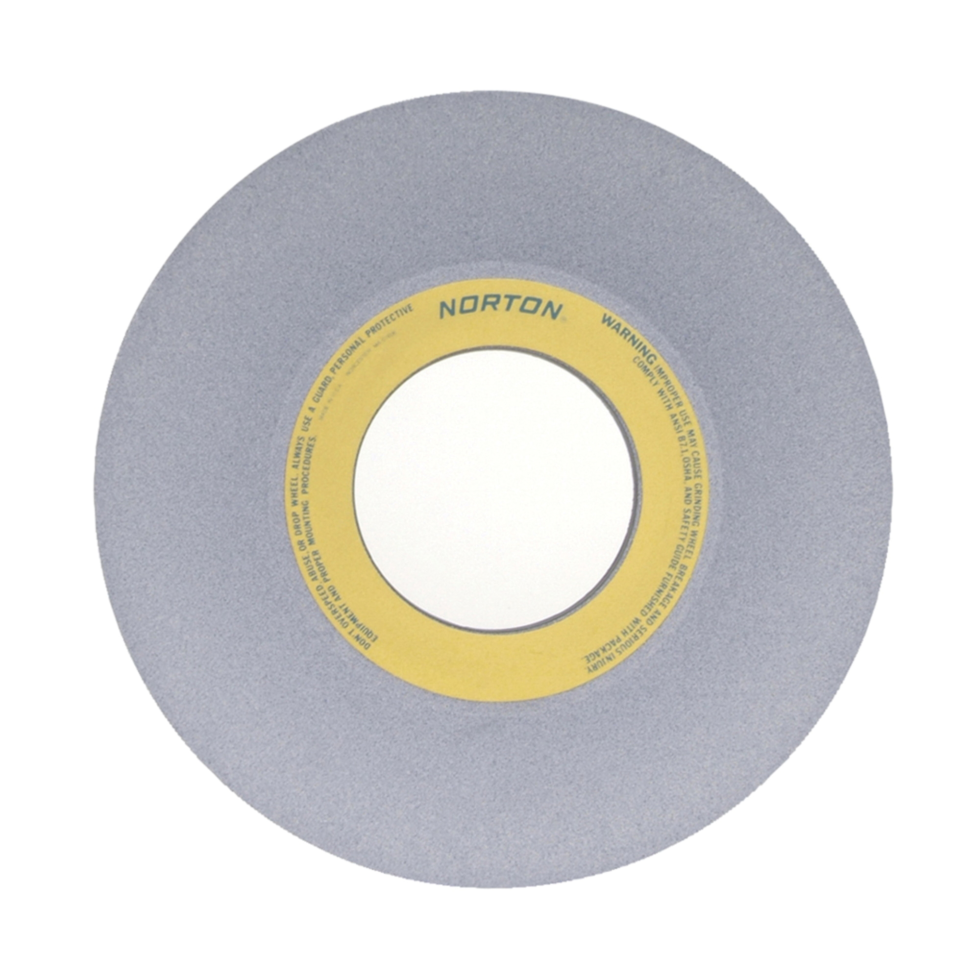 Norton® 66253364375 32A 1-Side Concaved Toolroom Wheel, 14 in Dia x 1-1/2 in THK, 5 in Center Hole, 60 Grit, Aluminum Oxide Abrasive