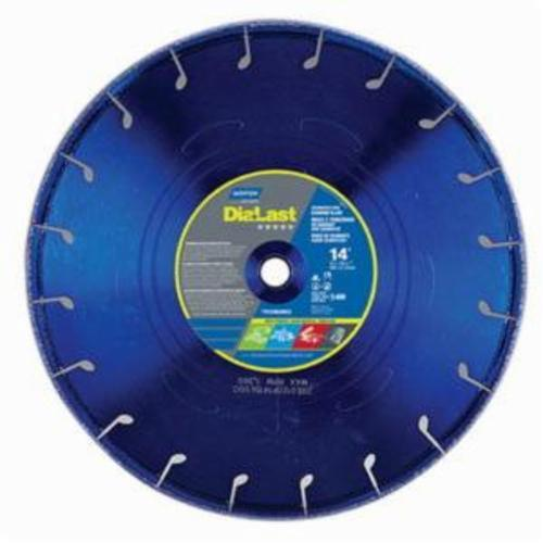 Norton® DiaLast™ 66253370017 Reinforced Right Cut Straight Depressed Center Wheel, 5 in Dia x 1/8 in THK, 7/8 in Center Hole, Diamond Abrasive