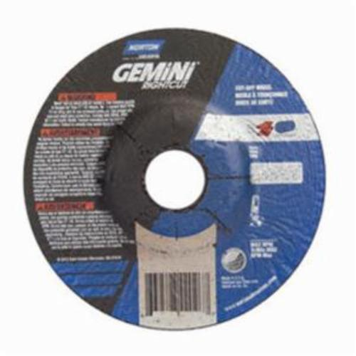 Norton® Gemini® RightCut™ 66253370067 RC6G27 All Purpose Cut-Off Wheel With Quick-Change Hub, 6 in Dia x 0.045 in THK, 7/8 in Center Hole, 24 Grit, Aluminum Oxide Abrasive