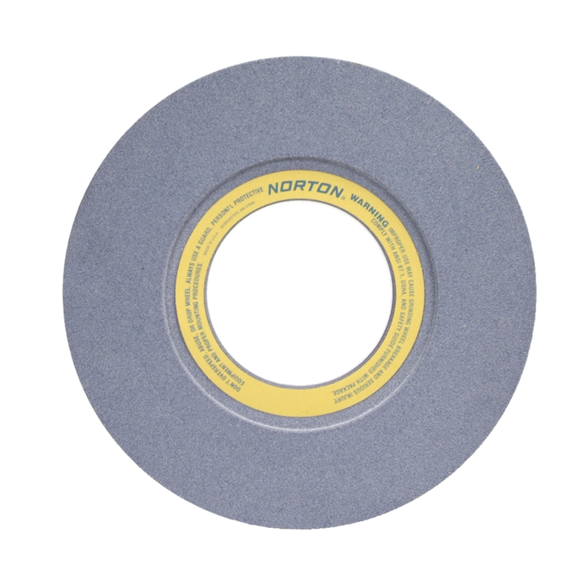 Norton® 66253464995 32A Straight Surface and Cylindrical Grinding Wheel, 16 in Dia x 2 in THK, 5 in Center Hole, 46 Grit, Aluminum Oxide Abrasive