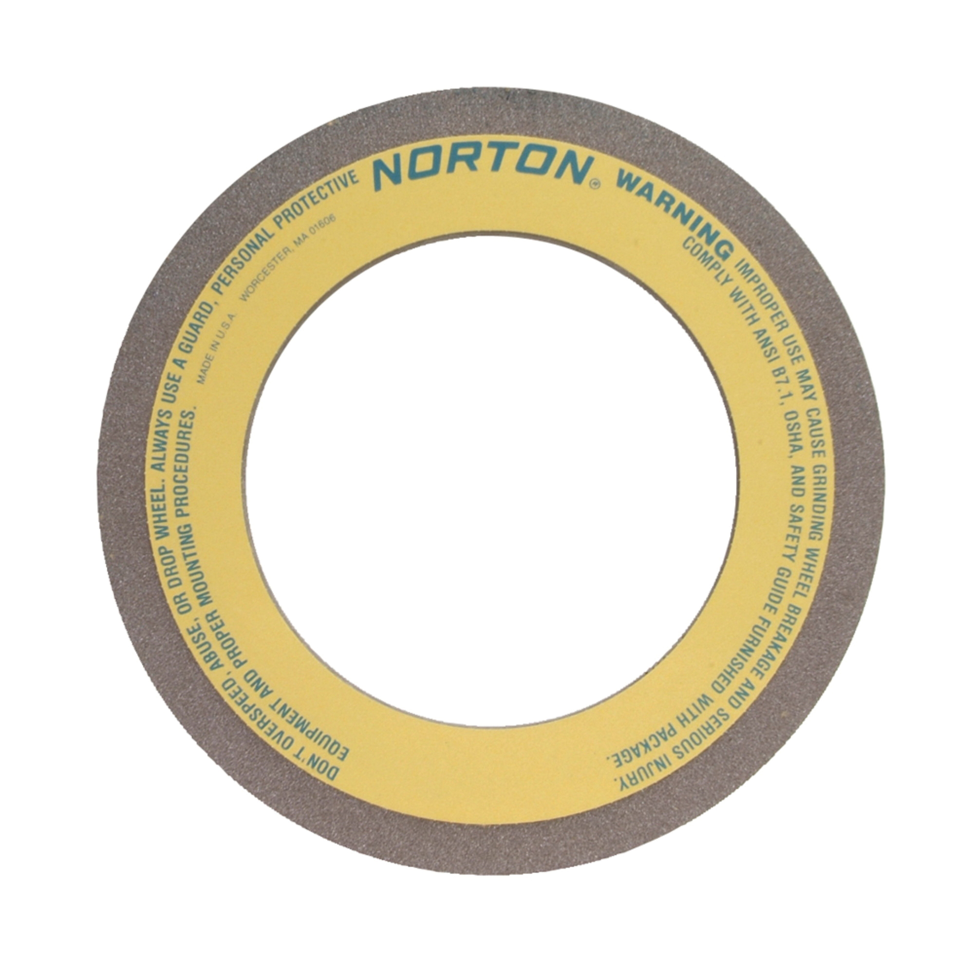 Norton® 66253465001 57A Centerless Grinding Wheel, 16 in Dia x 4 in THK, 10 in Center Hole, 80 Grit, Aluminum Oxide Abrasive