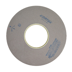 Norton® 66253466722 64A Surface and Cylindrical Grinding Wheel, 16 in Dia x 1 in THK, 5 in Center Hole, 60 Grit, Aluminum Oxide Abrasive