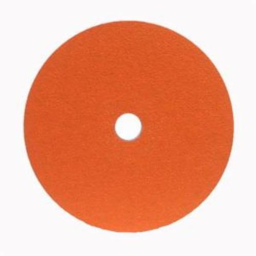Norton® Metalite® 66254400683 F220 Heavy Duty Coated Abrasive Disc, 5 in Dia, 7/8 in Center Hole, 36 Grit, Extra Coarse Grade, Aluminum Oxide Abrasive, Center Mount Attachment