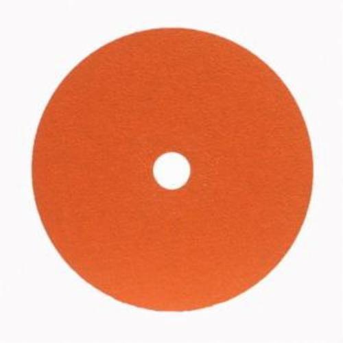 Norton® Metalite® 66254400701 F220 Heavy Duty Coated Abrasive Disc, 7 in Dia, 7/8 in Center Hole, 36 Grit, Extra Coarse Grade, Aluminum Oxide Abrasive, Center Mount Attachment