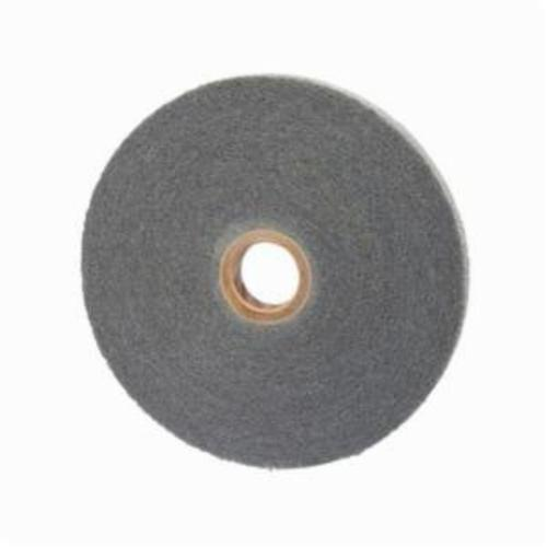 Norton® Bear-Tex® 66254409698 Convolute Non-Woven Abrasive Wheel, 8 in Dia, 3 in Center Hole, 1/2 in W Face, Fine Grade, Silicon Carbide Abrasive