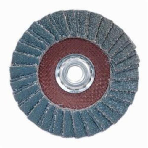 Norton® PowerFlex® 66254420012 R828 Arbor Thread Standard Density Coated Abrasive Flap Disc, 7 in Dia, P60 Grit, Coarse Grade, Zirconia Alumina Abrasive, Type 29/Conical Disc