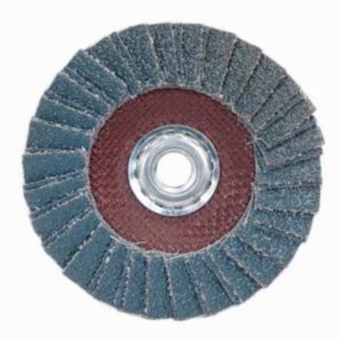 Norton® PowerFlex® 66254420013 R828 Arbor Thread Standard Density Coated Abrasive Flap Disc, 7 in Dia, P80 Grit, Coarse Grade, Zirconia Alumina Abrasive, Type 29/Conical Disc