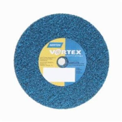 Norton® Bear-Tex® Rapid Blend™ Vortex® 66254420696 Non-Woven Unified Wheel, 3 in Dia, 3/8 in Center Hole, 1/2 in W Face, Medium Grade, Aluminum Oxide Abrasive