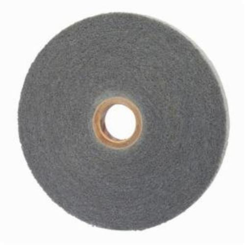 Norton® Bear-Tex® 66254421575 Convolute Non-Woven Abrasive Wheel, 8 in Dia, 3 in Center Hole, 1/2 in W Face, Fine Grade, Silicon Carbide Abrasive
