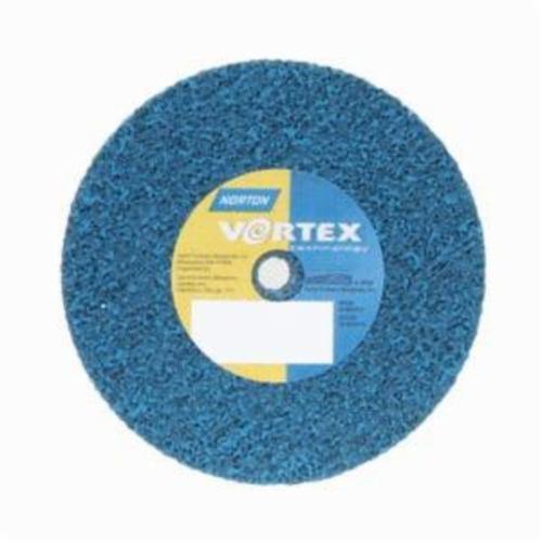 Norton® Bear-Tex® Rapid Blend™ Vortex® 66254428454 Non-Woven Unified Wheel, 3 in Dia, 1/4 in Center Hole, 1/4 in W Face, Medium Grade, Aluminum Oxide Abrasive