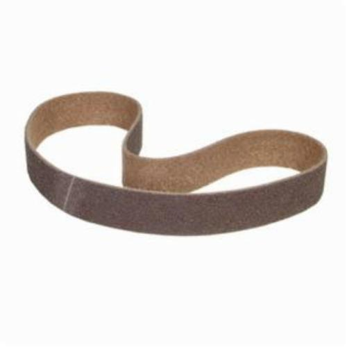 Norton® Bear-Tex® Rapid Prep™ 66254429365 Benchstand Flex Low Stretch Narrow Regular Surface Conditioning Non-Woven Abrasive Belt, 2-1/2 in W x 60 in L, Coarse Grade, Aluminum Oxide Abrasive, Brown