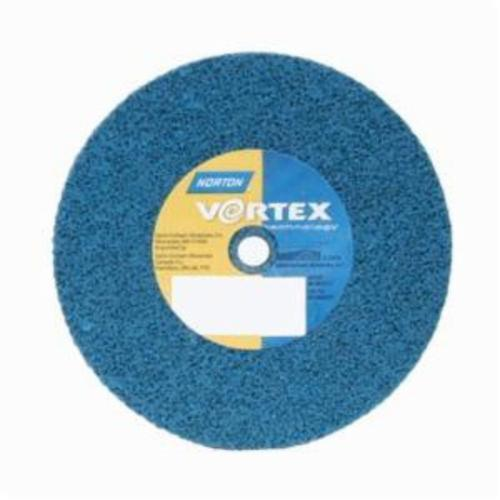 Norton® Bear-Tex® Rapid Blend™ Vortex® 66254433503 Non-Woven Unified Wheel, 3 in Dia, 3/8 in Center Hole, 1/8 in W Face, Medium Grade, Aluminum Oxide Abrasive
