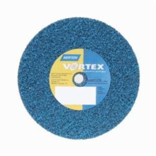 Norton® Bear-Tex® Rapid Blend™ Vortex® 66254433508 Non-Woven Unified Wheel, 3 in Dia, 3/8 in Center Hole, 1/2 in W Face, Medium Grade, Aluminum Oxide Abrasive