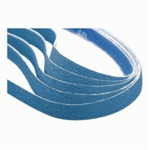 Norton® BlueFire® 66254452237 R887P File Coated Abrasive Belt, 1/2 in W x 24 in L, 50 Grit, Coarse Grade, Zirconia Alumina Abrasive, Polyester Backing
