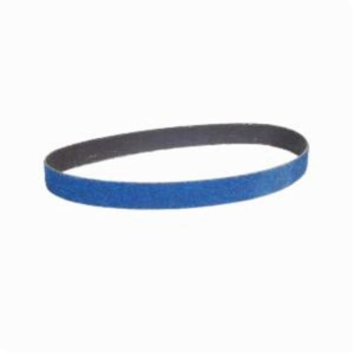 Norton® BlueFire® 66254457869 R887P File Coated Abrasive Belt, 3/4 in W x 20-1/2 in L, 40 Grit, Extra Coarse Grade, Zirconia Alumina Abrasive, Polyester Backing