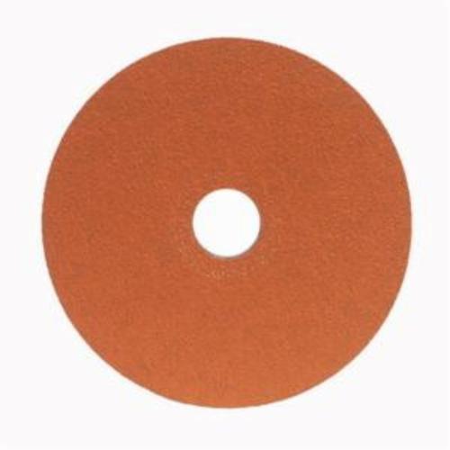 Norton® Blaze® 66254464821 SG F980 Heavy Duty Coated Abrasive Disc, 5 in Dia, 7/8 in Center Hole, 36 Grit, Extra Coarse Grade, Premium Ceramic Alumina Abrasive, Center Mount Attachment