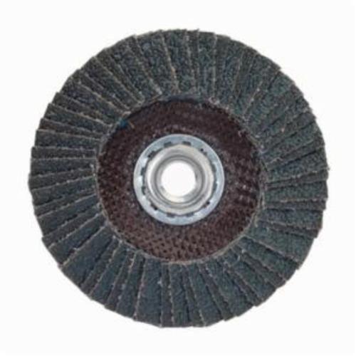 Norton® PowerFlex® 66254472671 R828 Arbor Thread Standard Density Coated Abrasive Flap Disc, 7 in Dia, P60 Grit, Coarse Grade, Zirconia Alumina Abrasive, Type 27/Flat Disc