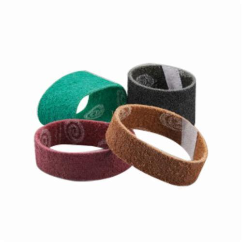Norton® Rapid Prep™ 66261007757 Surface Conditioning Non-Woven Abrasive Belt, 2 in W x 72 in L, Medium Grade, Aluminum Oxide Abrasive, Maroon