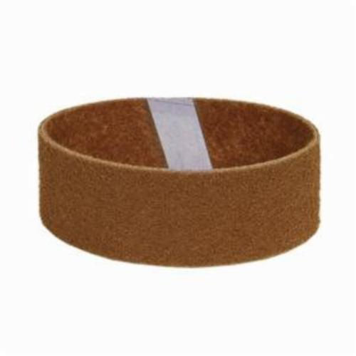Norton® Bear-Tex® Rapid Prep™ 66254496043 Low Stretch Flex Portable Regular Surface Conditioning Non-Woven Abrasive Belt, 3 in W x 18 in L, Coarse Grade, Aluminum Oxide Abrasive, Brown