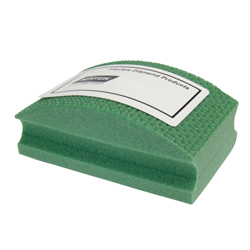 Norton® 66260306360 Flexible Conventional Curved Hand Pad, 2-1/8 in Dia x 1-1/2 in THK, 60 Grit