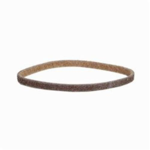 Norton® Bear-Tex® Rapid Prep™ 66261002111 Low Stretch Surface Conditioning Xtra Flexible Non-Woven Abrasive Belt, 3/4 in W x 18 in L, Coarse Grade, Aluminum Oxide Abrasive, Brown