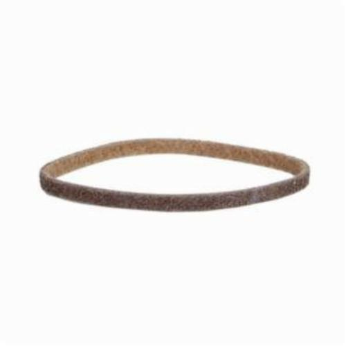 Norton® Bear-Tex® Rapid Prep™ 66261003177 Low Stretch Surface Conditioning Xtra Flexible Non-Woven Abrasive Belt, 1/2 in W x 12 in L, Coarse Grade, Aluminum Oxide Abrasive, Brown