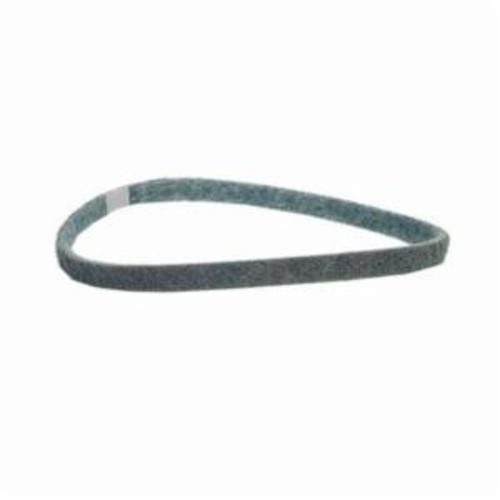 Norton® Bear-Tex® Rapid Prep™ 66261007023 Low Stretch Surface Conditioning Xtra Flexible Non-Woven Abrasive Belt, 1 in W x 18 in L, Coarse Grade, Aluminum Oxide Abrasive, Brown
