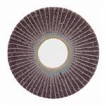 Norton® Bear-Tex® 66261004418 Non-Woven Flap Wheel, 6 in Dia, 1 in W Face, 80 Grit, Medium Grade, Aluminum Oxide Abrasive