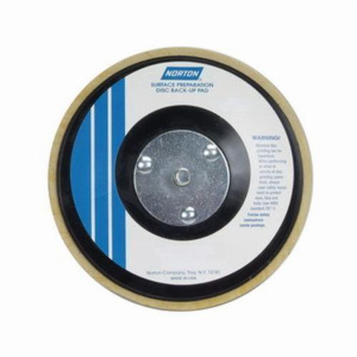Norton® 66261059372 Medium Density Backup Pad, 8 in Dia Pad, Hook and Loop Attachment