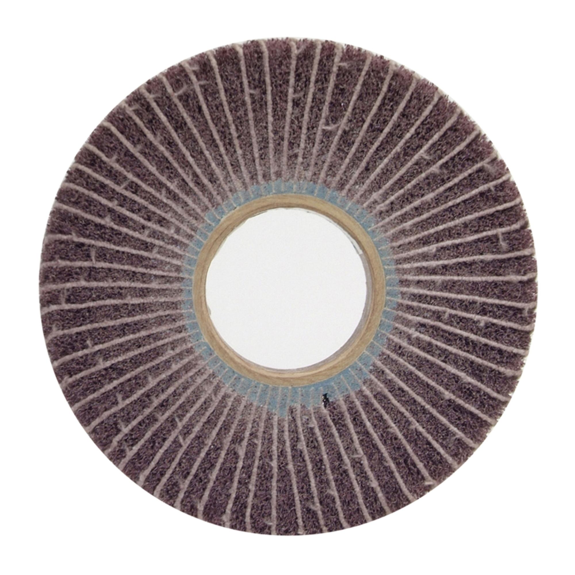 Norton® Bear-Tex® 66261007678 Unmounted Non-Woven Flap Wheel, 6 in Dia, 1 in W Face, 120 Grit, Medium Grade, Aluminum Oxide Abrasive