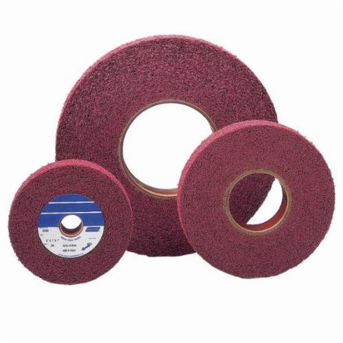 Norton® Bear-Tex® 66261007831 Convolute Non-Woven Abrasive Wheel, 8 in Dia, 3 in Center Hole, 1 in W Face, Medium Grade, Aluminum Oxide Abrasive