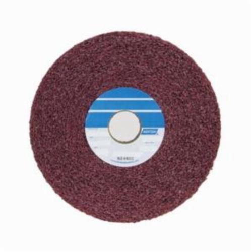 Norton® Bear-Tex® 66261007936 Convolute Non-Woven Abrasive Wheel, 6 in Dia, 1 in Center Hole, 1 in W Face, Medium Grade, Aluminum Oxide Abrasive