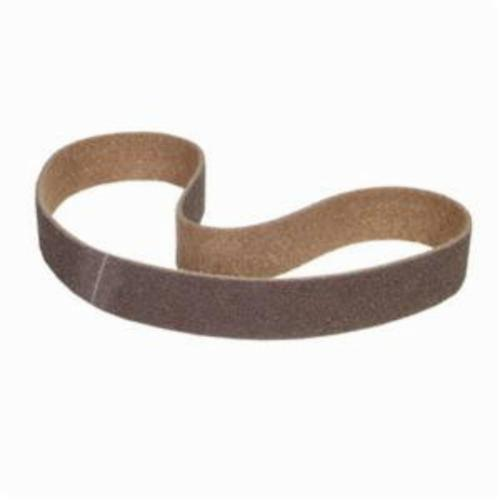 Norton® Bear-Tex® Rapid Prep™ 66261008317 Benchstand Flex Low Stretch Narrow Regular Surface Conditioning Non-Woven Abrasive Belt, 1 in W x 42 in L, Coarse Grade, Aluminum Oxide Abrasive, Brown