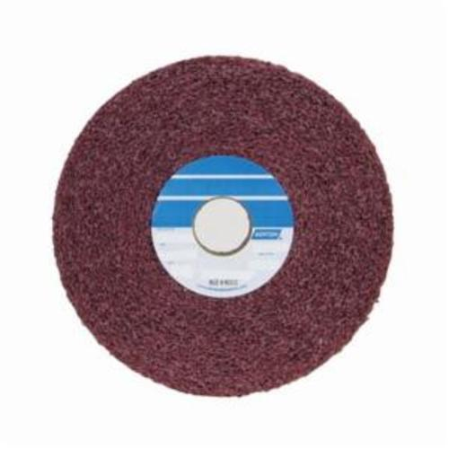 Norton® Bear-Tex® 66261010148 Convolute Non-Woven Abrasive Wheel, 6 in Dia, 1 in Center Hole, 1 in W Face, Medium Grade, Aluminum Oxide Abrasive