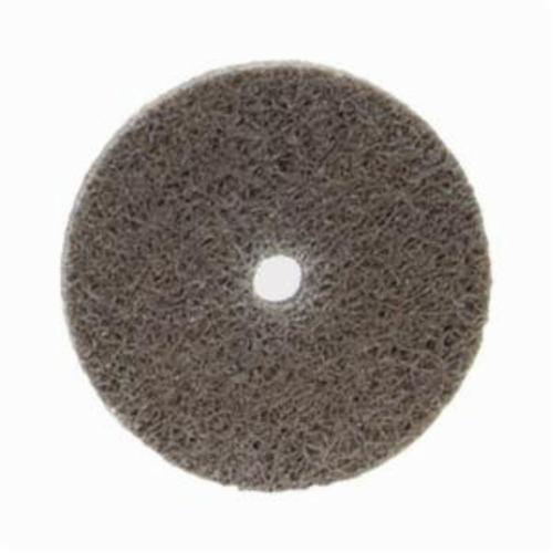 Norton® Bear-Tex® NEX™ Rapid Blend™ 66261014892 Non-Woven Unified Wheel, 2 in Dia, 1/4 in Center Hole, 1/4 in W Face, Medium Grade, Aluminum Oxide Abrasive