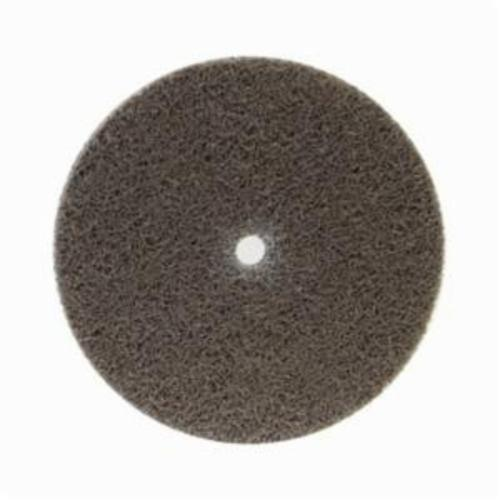 Norton® Bear-Tex® NEX™ Rapid Blend™ 66261014909 Non-Woven Unified Wheel, 3 in Dia, 1/4 in Center Hole, 1/4 in W Face, Medium Grade, Aluminum Oxide Abrasive