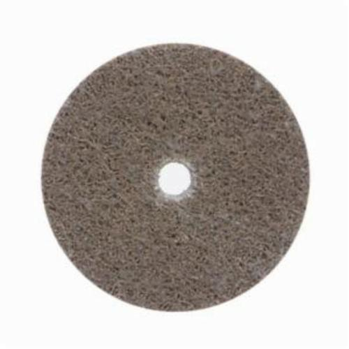 Norton® Bear-Tex® NEX™ Rapid Blend™ 66261014927 Non-Woven Unified Wheel, 2 in Dia, 1/4 in Center Hole, 1/8 in W Face, Medium Grade, Aluminum Oxide Abrasive