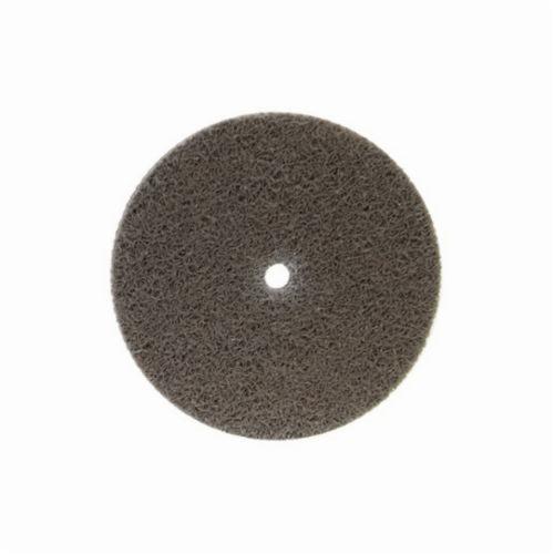Norton® Bear-Tex® NEX™ Rapid Blend™ 66261014929 Non-Woven Unified Wheel, 3 in Dia, 3/8 in Center Hole, 1/2 in W Face, Medium Grade, Aluminum Oxide Abrasive