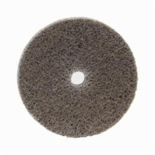 Norton® Bear-Tex® NEX™ Rapid Blend™ 66261015565 Non-Woven Unified Wheel, 3 in Dia, 1/4 in Center Hole, 1/4 in W Face, Fine Grade, Aluminum Oxide Abrasive