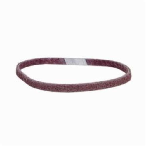 Norton® Bear-Tex® Rapid Prep™ 66261015808 Low Stretch Surface Conditioning Xtra Flexible Non-Woven Abrasive Belt, 3/4 in W x 18 in L, Medium Grade, Aluminum Oxide Abrasive, Maroon