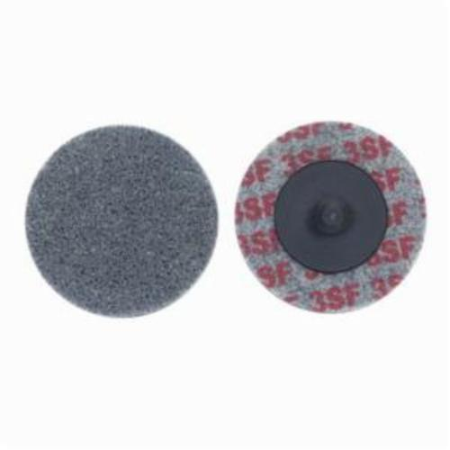 Norton® Bear-Tex® Rapid Blend™ 66261017306 Quick-Change Non-Woven Unified Wheel, 2 in Dia, 1/8 in W Face, Fine Grade, Silicon Carbide Abrasive
