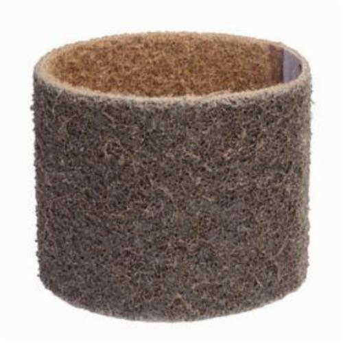 Norton® Bear-Tex® Rapid Prep™ 66261018076 Low Flex Highest Density Portable Stiffest Surface Conditioning Non-Woven Abrasive Belt, 3 in W x 10-11/16 in L, Coarse Grade, Aluminum Oxide Abrasive, Brown
