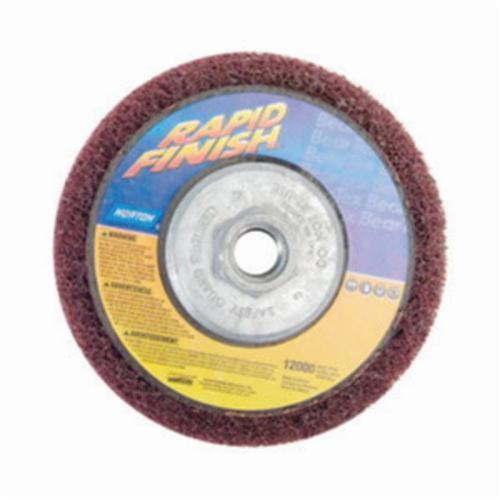 Norton® Rapid Blend™ 66261020549 Depressed Center Wheel, 4-1/2 in Dia x 1/2 in THK, 7/8 in Center Hole, 150/180 Grit, Aluminum Oxide Abrasive