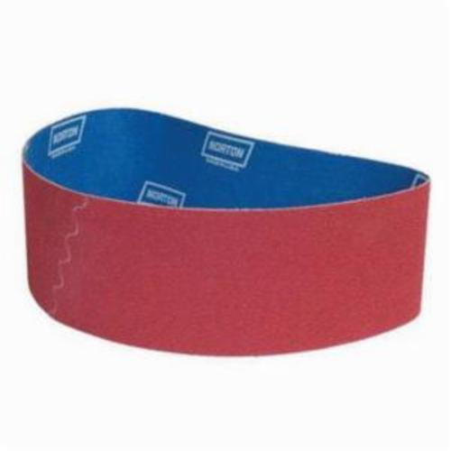 Norton® 66261022622 SG R981 Narrow Coated Abrasive Belt, 4 in W x 79 in L, 36 Grit, Extra Coarse Grade, Ceramic Alumina Abrasive, Polyester Backing