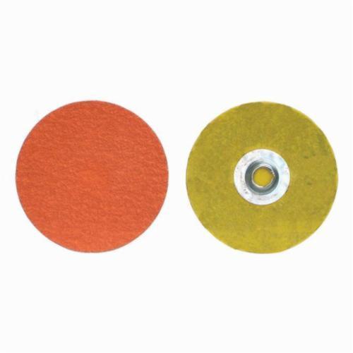 Norton® Blaze® 66261043379 R980P Heavy Duty Coated Abrasive Quick-Change Disc, 1-1/2 in Dia, 120 Grit, Medium Grade, Ceramic Alumina Abrasive, Type TS (Type II) Attachment